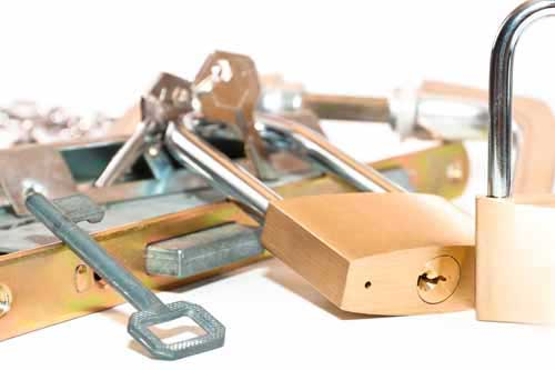 sleutels op foto